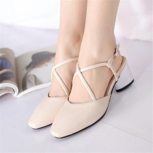 Thick Square Toe Sandals -