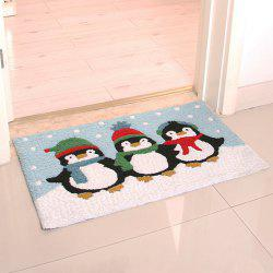 Floor Rug Cartoon Lovely Penguin Pattern Cute Home Mat -