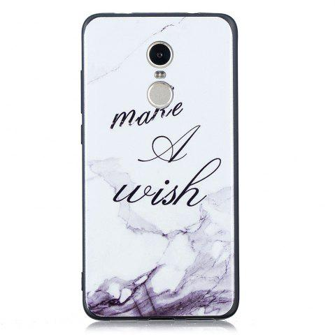 Outfits White Marble Phone Case for Xiaomi Redmi Note 4 / Note 4X Case Fashion Cartoon Soft Silicone TPU Protection Cover Cases