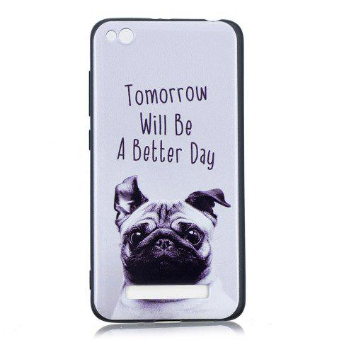 New Pet Dog Phone Case for Xiaomi Redmi 4A Case Fashion Cartoon Relief Soft Silicone TPU Cover Cases Protection Phone Bag