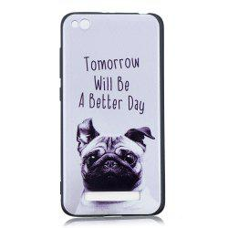 Pet Dog Phone Case for Xiaomi Redmi 4A Case Fashion Cartoon Relief Soft Silicone TPU Cover Cases Protection Phone Bag -