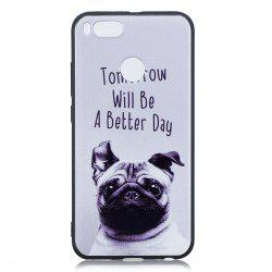 Pet Dog Phone Case for Xiaomi Mi 5X / Mi A1 Case Fashion Cartoon Soft Silicone TPU Cover Cases Protection Phone Bag -