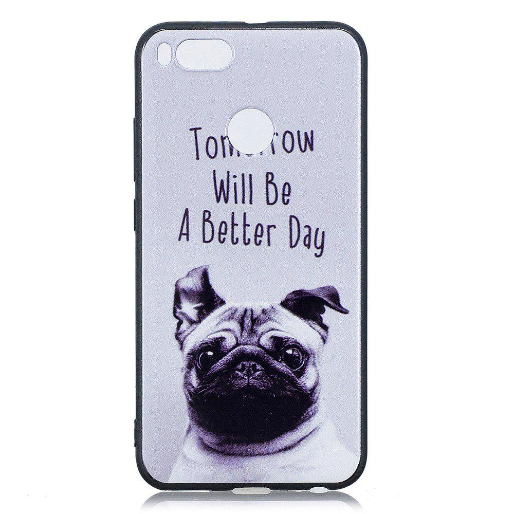 Cheap Pet Dog Phone Case for Xiaomi Mi 5X / Mi A1 Case Fashion Cartoon Soft Silicone TPU Cover Cases Protection Phone Bag