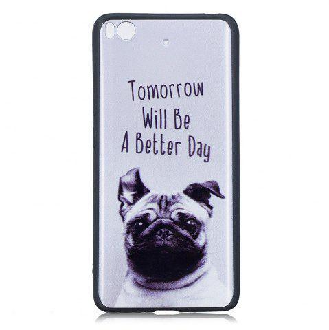 Hot Pet Dog Phone Case for Xiaomi Mi 5S Case Fashion Cartoon Relief Soft Silicone TPU Cover Cases Protection Phone Bag