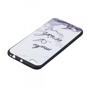 White Marble Phone Case for Xiaomi Mi 5C Case Fashion Cartoon Relief Soft Silicone TPU Cover Cases Protection Phone Bag -