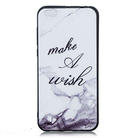 Shop White Marble Phone Case for Xiaomi Mi 5C Case Fashion Cartoon Relief Soft Silicone TPU Cover Cases Protection Phone Bag