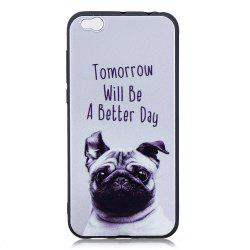 Pet Dog Phone Case for Xiaomi Mi 5C Case Fashion Cartoon Relief Soft Silicone TPU Cover Cases Protection Phone Bag -