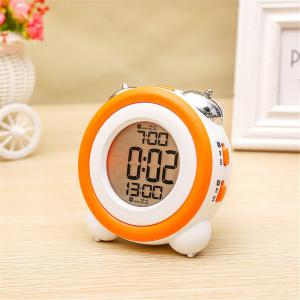 Simple LED Cute Mini Portable Alarm Clock Child  Wake Up Morning or Night-light -