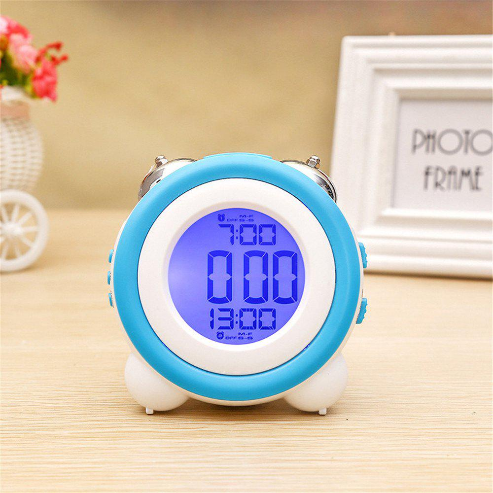 Affordable Simple LED Cute Mini Portable Alarm Clock Child  Wake Up Morning or Night-light