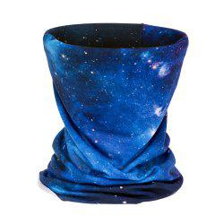 Fashion Starry Blue Sky 3D Print Neckwarmer Multipurpose Scarf -
