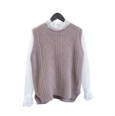 Latest Bud Silk Garment V-neck Wool Knit Vest Two suits