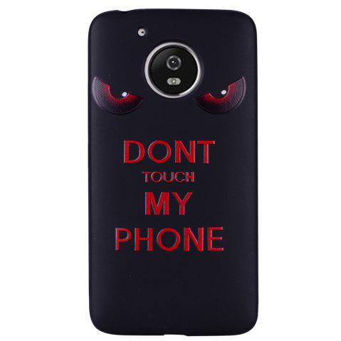 Outfit For MOTO G5 Red Eye Pattern TPU Phone Protection Shell