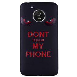 Pour MOTO G5 Red Eye Motif TPU Phone Protection Shell -