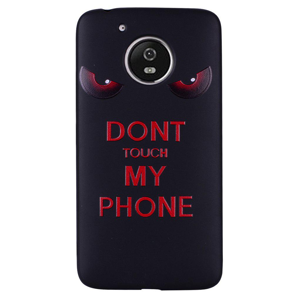 Pour MOTO G5 Red Eye Motif TPU Phone Protection Shell