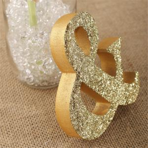170717Party MRMRS Gold Glitter Letters Wooden Props Home Furnishing Decorative Ornaments 1SET -