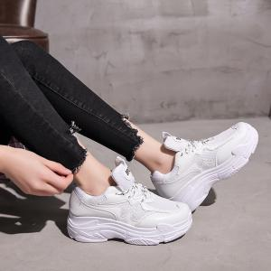 Sneakers with Fashion Color and Thick Bottom -