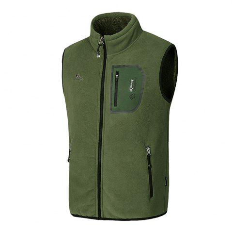 Fashion Men's Outerwear Coats Polar Fleece Vest Pocket Sleeveless Waistcoat