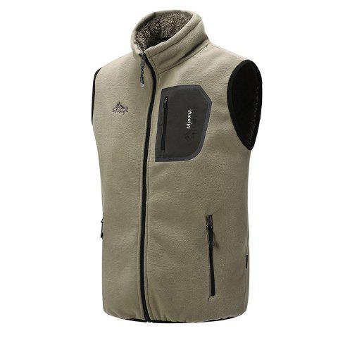 Outfit Men's Outerwear Coats Polar Fleece Vest Pocket Sleeveless Waistcoat