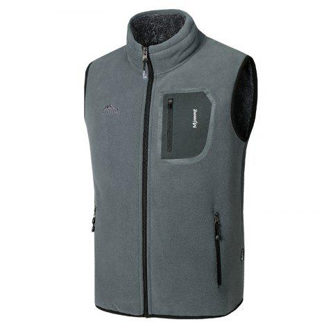 Unique Men's Outerwear Coats Polar Fleece Vest Pocket Sleeveless Waistcoat