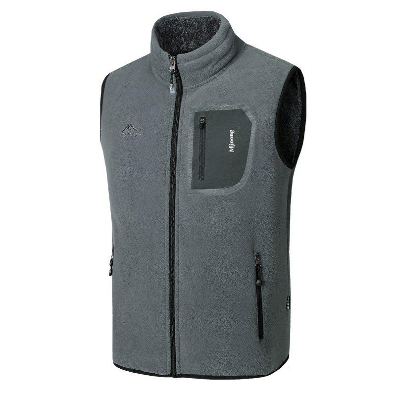 Outfits Men's Outerwear Coats Polar Fleece Vest Pocket Sleeveless Waistcoat