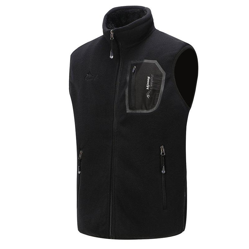 Affordable Men's Outerwear Coats Polar Fleece Vest Pocket Sleeveless Waistcoat