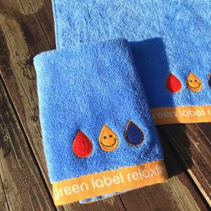 Pure Cotton Embroidery Smiley Face Small Square Towel 5PCS -
