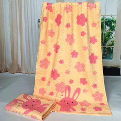 Pure Cotton Cartoon Embroidered Children Bath Towel -