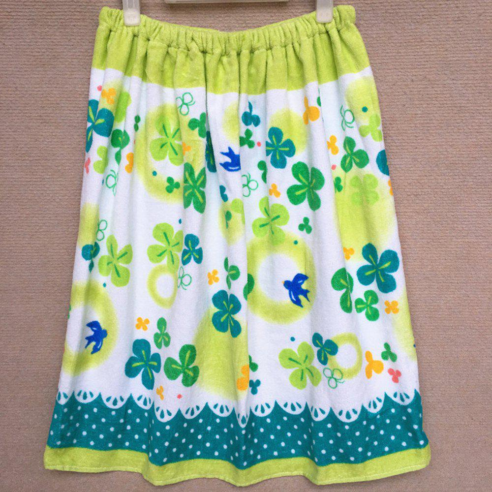 Chic Pure Cotton Cartoon Printed Swimming Bath Skirt