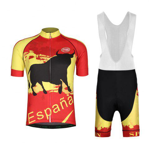 Unique TVSSS Mens Cycling Jerseys Bib Set Spanish Bullfighter Cycling Suit Summer Short-Sleeved MTB Bicycles Sets New Design