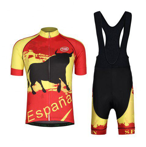 Discount TVSSS Mens Cycling Jerseys Bib Set Spanish Bullfighter Cycling Suit Summer Short-Sleeved MTB Bicycles Sets New Design