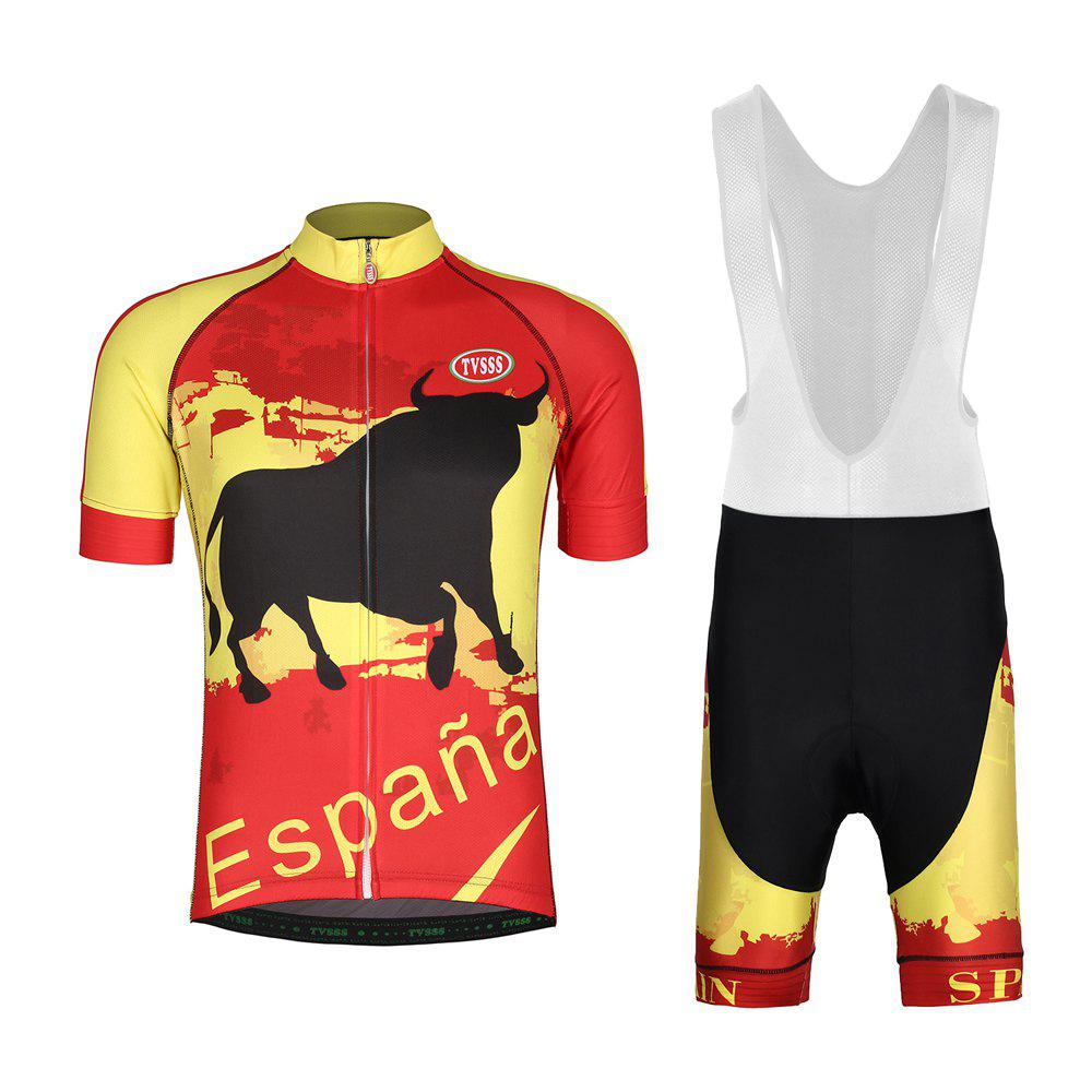 Shop TVSSS Mens Cycling Jerseys Bib Set Spanish Bullfighter Cycling Suit Summer Short-Sleeved MTB Bicycles Sets New Design