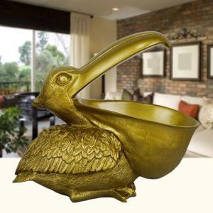 3D Resin Pelican Statue Birds Household Adornment Home Office Decor indoor -