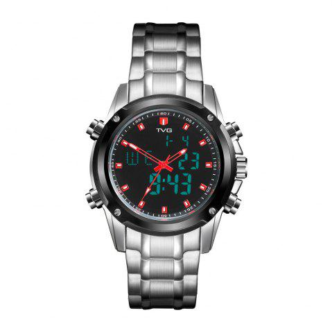 Discount TVG KM-526 1324 Fashion Leisure Steel with Cool Outdoor Sports Electronic Quartz Watch