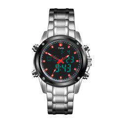 TVG KM-526 1324 Fashion Leisure Steel with Cool Outdoor Sports Electronic Quartz Watch -