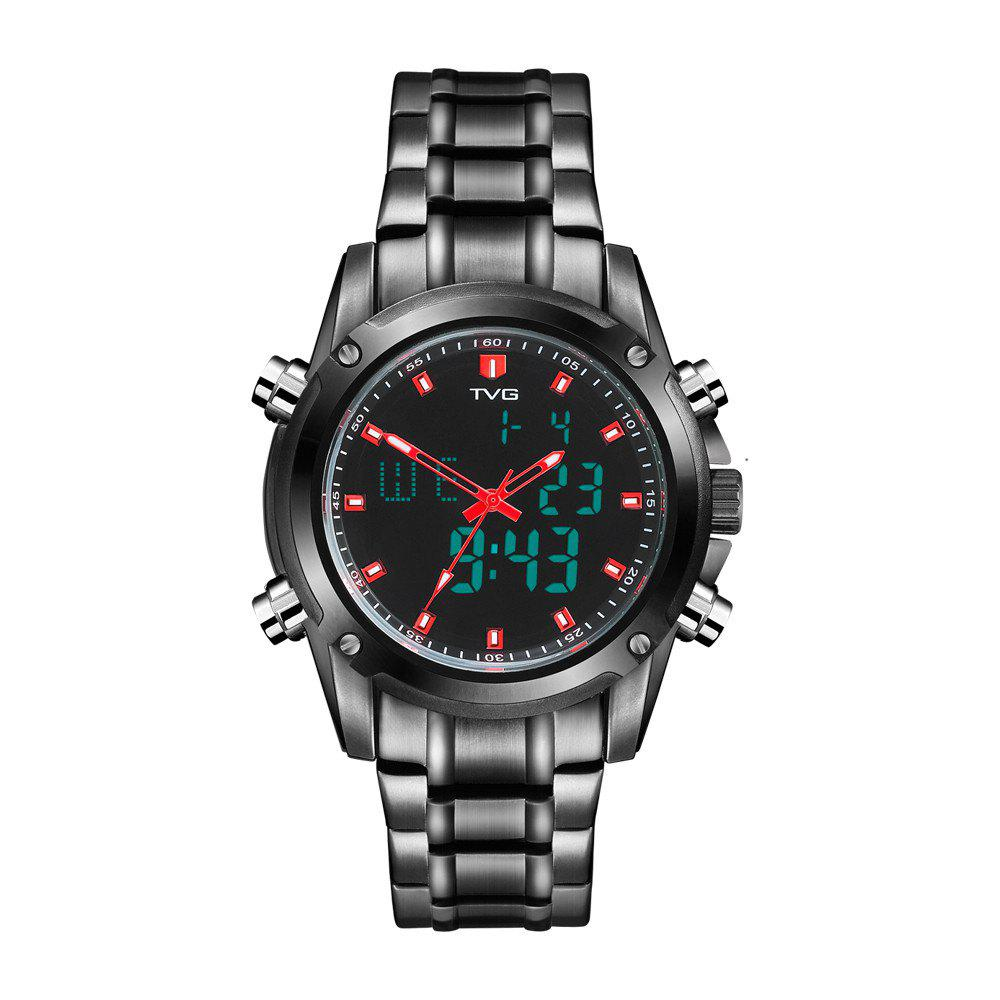 Fashion TVG KM-526 1324 Fashion Leisure Steel with Cool Outdoor Sports Electronic Quartz Watch