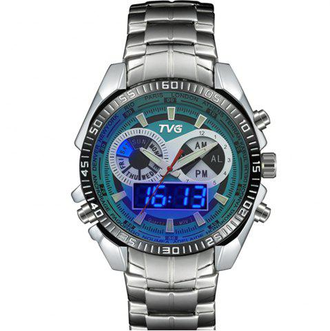 Store TVG 568 3746 Leisure Fashion Night Light Shows The Cool Outdoor Sports Electronic Quartz Watch