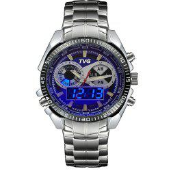 TVG 568 3746 Leisure Fashion Night Light Shows The Cool Outdoor Sports Electronic Quartz Watch -