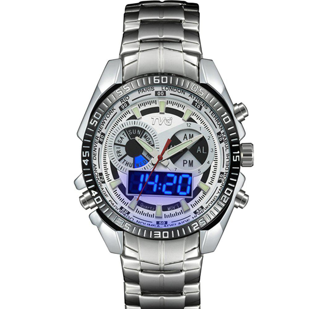 Sale TVG 568 3746 Leisure Fashion Night Light Shows The Cool Outdoor Sports Electronic Quartz Watch
