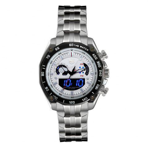 Store TVG Km-3168 1323 Fashionable Outdoor Sports Night Light Shows The Steel Band with Cool Electronic Quartz Watch