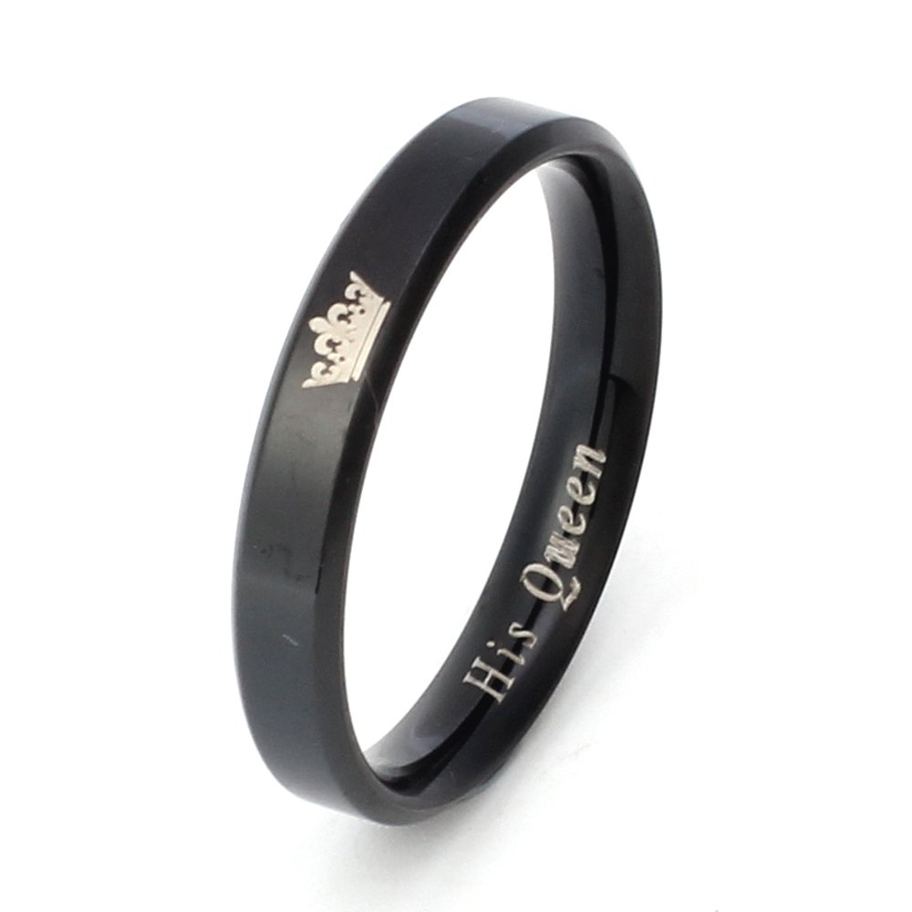 Classic Crown Titanium Ring Couple Models Stainless