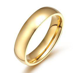 Female Ring Gold Glossy Titanium Steel Fashion Accessories -