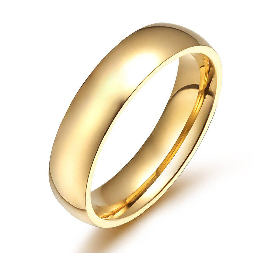 Online Female Ring Gold Glossy Titanium Steel Fashion Accessories
