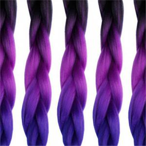 5pcs 3 Tone Ombre Jumbo Braiding 24 inch Crochet Braids Synthetic Fiber Twist -