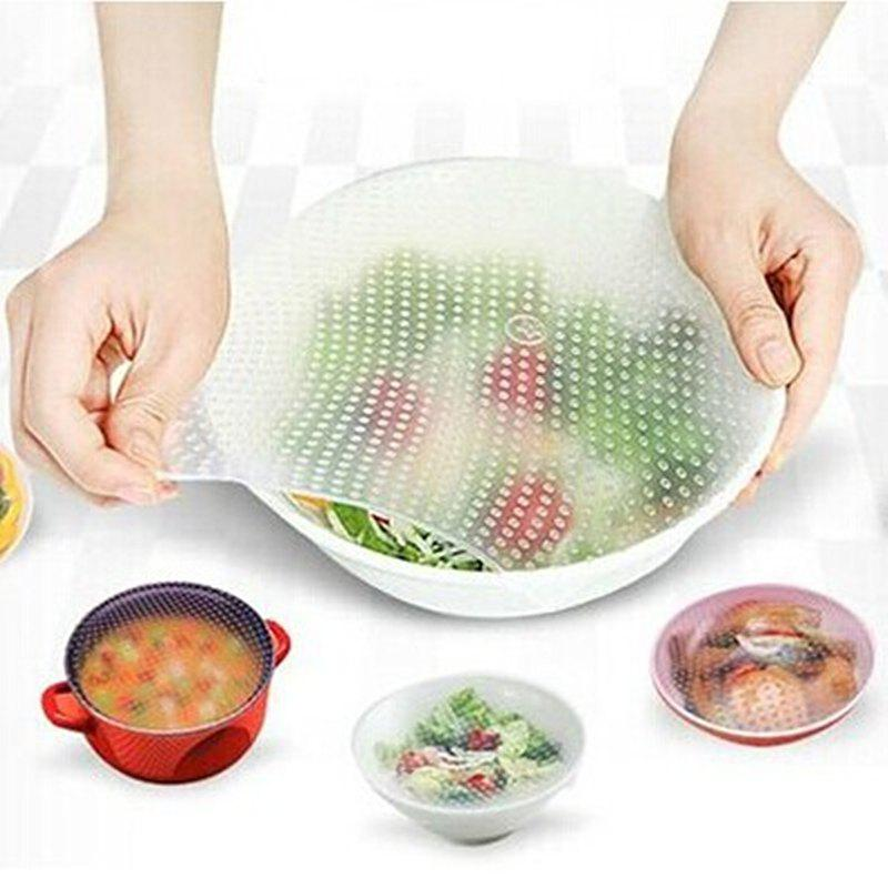 Fashion Food Grade Silicone Wrap Reusable Sealing Cover 1 Universal Bowl Covers