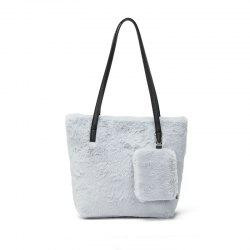 Two-piece Female Plush Shoulder Bag Handbag -