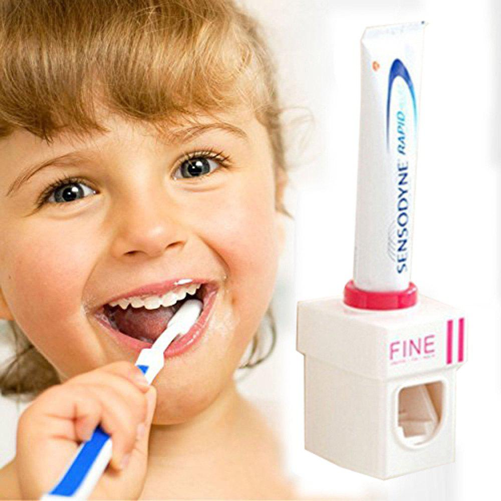 New Convenient Hand Free Automatic Baby Toothbrush Dispensers Children Toothpaste Squeezer