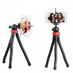 Octopus Style Portable and Adjustable Tripod Stand Holder for IPhone  Cellphone Camera with Universal Clip and Remote -