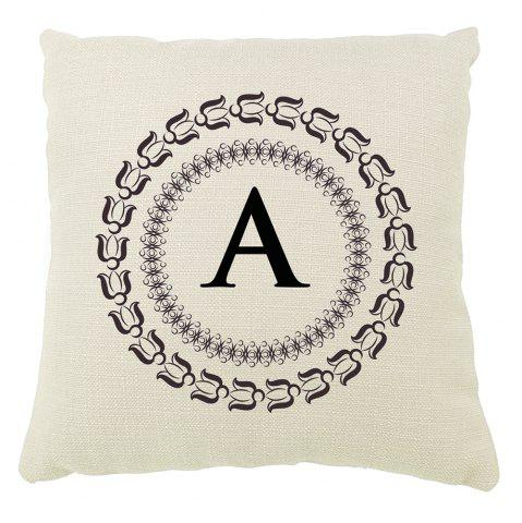 Outfits English Letter Decorative Pattern Set of Bedroom Sofa Cushion Cover Balcony Pillowcase