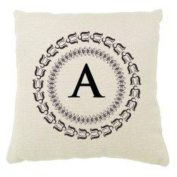 English Letter Decorative Pattern Set of Bedroom Sofa Cushion Cover Balcony Pillowcase -