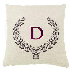European Border Pattern Balcony Sofa Cushion Cover Letter Set -